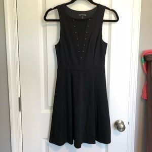 Express Studded Fit & Flare Dress XS
